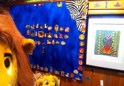 Lion king pin board