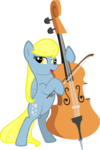 Derpy Playing Octavia S Cello By Aceofponies-d5sou by bronie1112