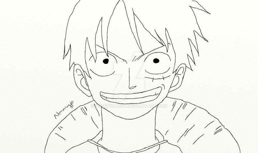Luffy Lineart : Luffy lineart by nommypanda on deviantart