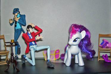 Lupin the Third meets Rarity by ShimaFox