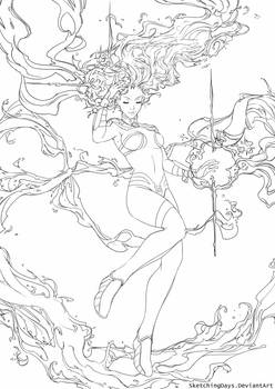 Starfire Lineart available for coloring