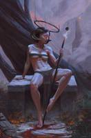 Dark Angel M'rah by SketchingDays