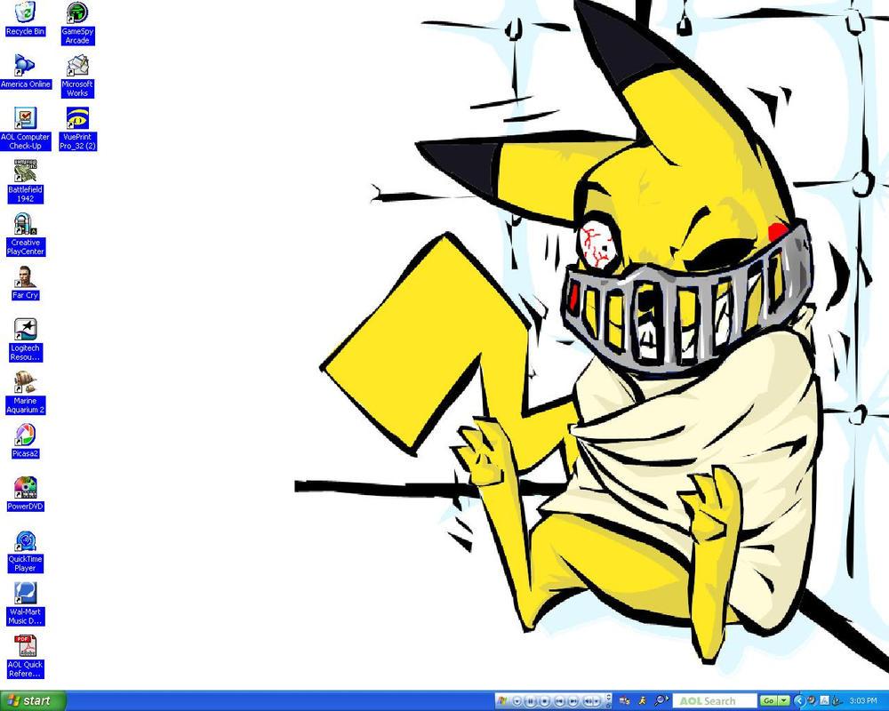 Psycho Pikachu by lenatheloser