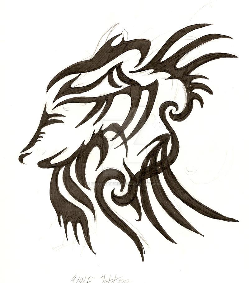 Tribal Wolf Wallpaper: Wolf Tribal Tattoo By SleepSearcher04 On DeviantArt
