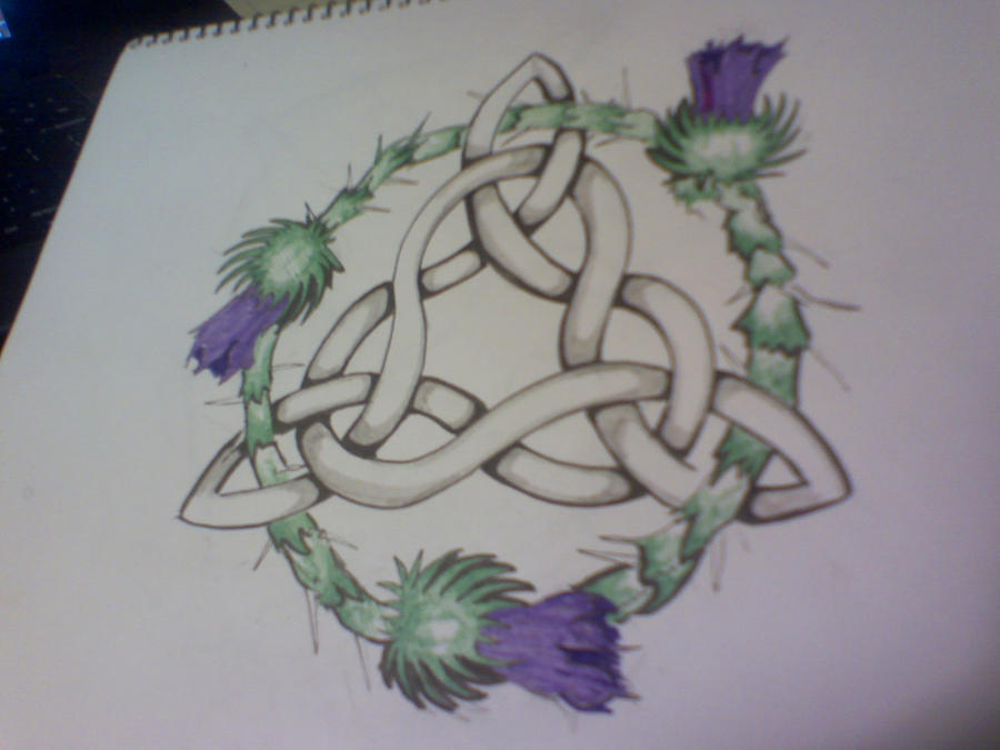 Celtic Knot Clover Tattoo by ~karadarkthorn on deviantART