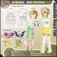 Annabelle Yuki .:Reference Sheet:. by AlexandriteDragonair