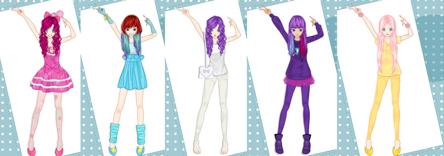 Mlp Fim In Oshare Kei Dress Up By Lomise On Deviantart