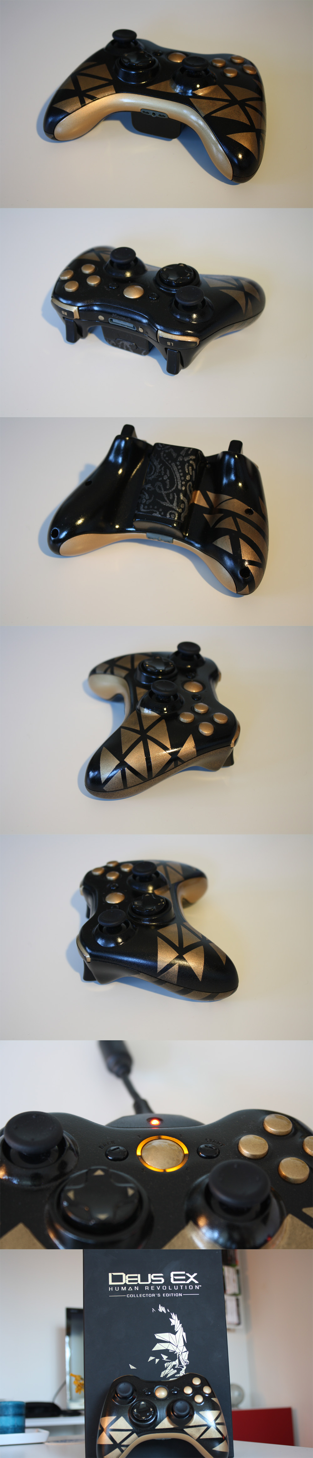 Deus Ex: Human Revolution XBox 360 Controller by The-Real-Seamus
