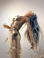 Silver Mermaid Fantasy Art