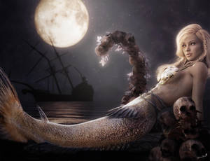 A Mermaid's Moon, Fantasy Art