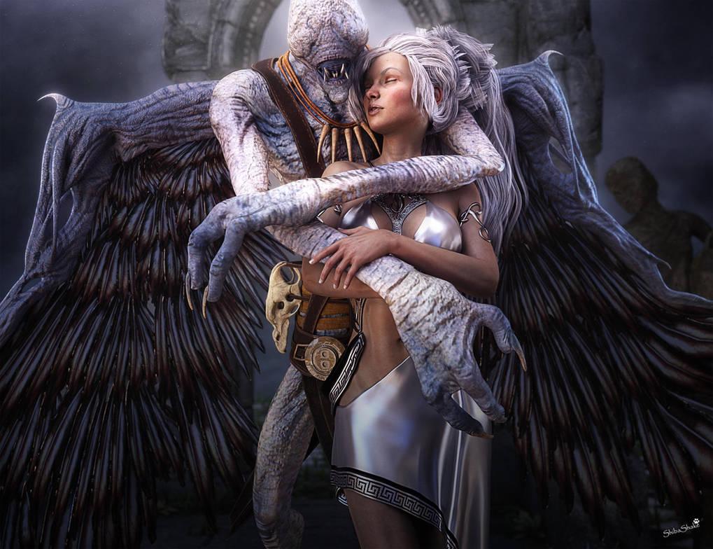 Blind Demon And White Lady Fantasy Art By Shibashake On Deviantart-8624