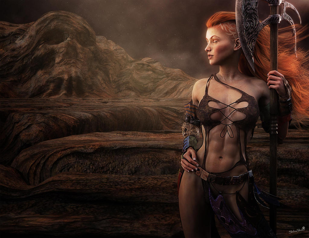 fantasy naked worrier woman