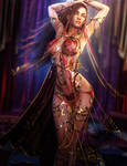 Salome's Dance of the Seven Veils, Fantasy 3D-Art by shibashake