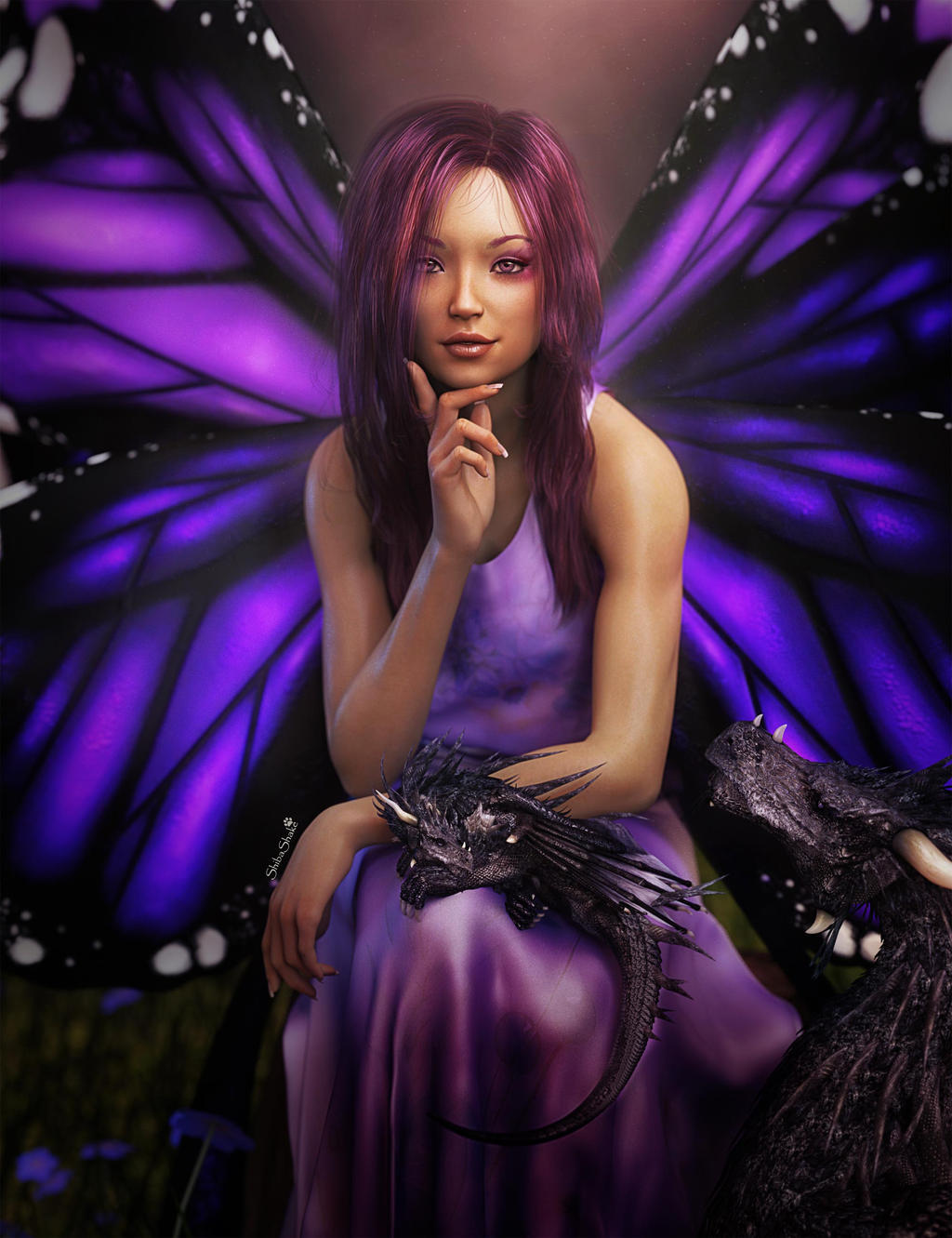 Fantasy butterfly wings - photo#6