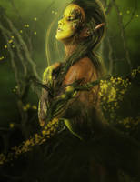 Daughter of the Earth, Fantasy Art by shibashake