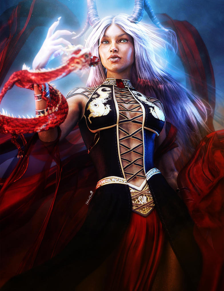 white_haired_woman_with_red_dragon__fant