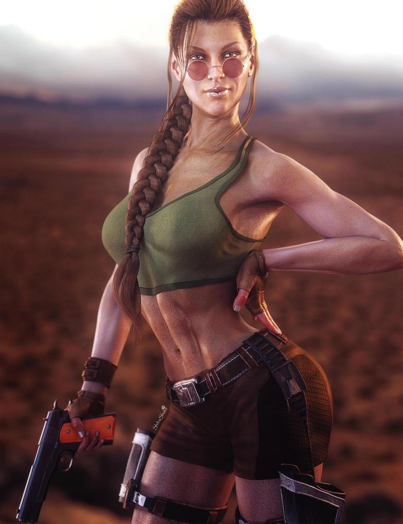 Victoria 8 as Lara Croft, Tomb Raider Game Fan-Art by ...