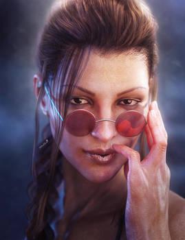 Lara Croft Tomb Raider Portrait, Game Fan-Art