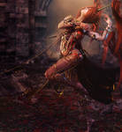 Red Head Dancer Woman, Fantasy Art