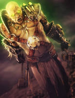 Fantasy Orc Warrior 3D-Art, Daz Studio Iray by shibashake