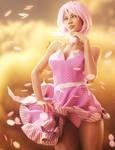 Pink Lady 3D-Art, Daz Studio dForce Wind Render