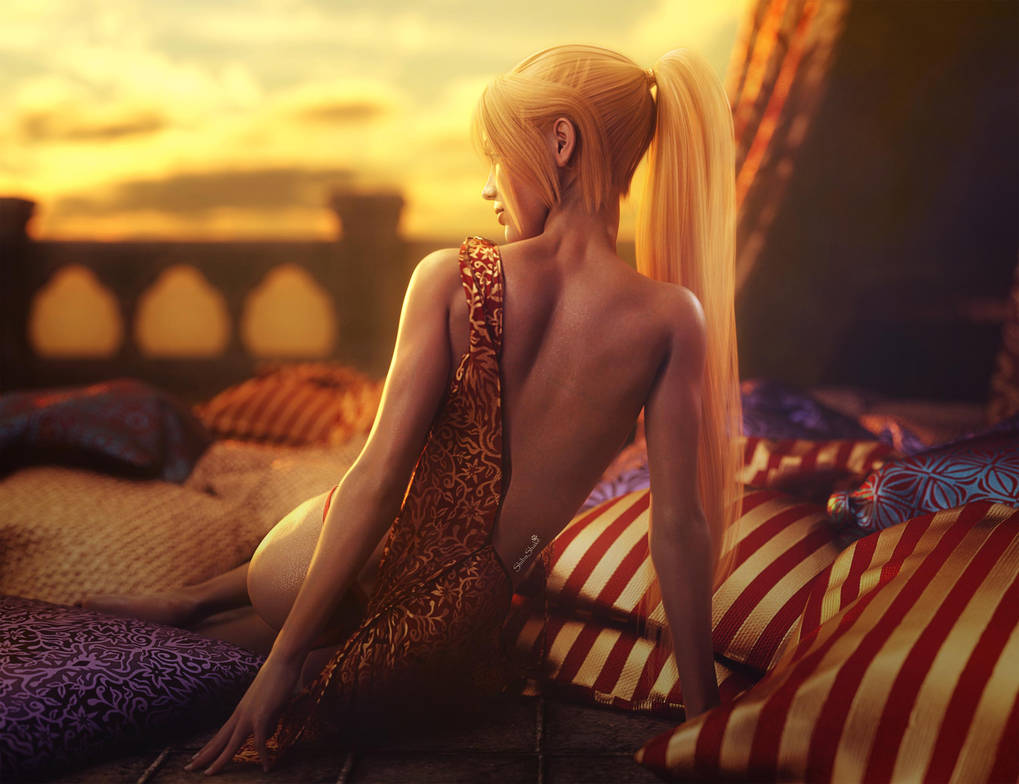 Beautiful Sunset, Fantasy Art, Daz Studio Iray by shibashake