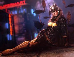 Bat Girl Pin-Up, DC Comics Fantasy Fan-Art