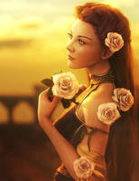 Margaery Tyrell, Lady of Roses, Fantasy Fan-Art by shibashake
