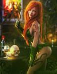 Sexy Poison Ivy Pin-Up, DC Villain Fantasy Fan-Art