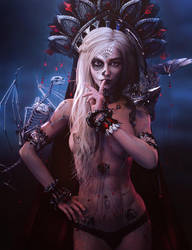 Life and Death, Gothic Fantasy Woman Art