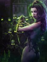 Pied Piper, Necromancer Fantasy Woman Art, DS Iray