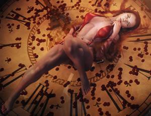 Petals in Time, Fantasy Woman Art, Daz Studio Iray