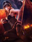 Sexy Devil Girl, Fantasy Woman Pin-Up Art, DS Iray by shibashake