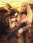 Star Wars Fan, Daenerys - Game of Thrones Fan Art by shibashake