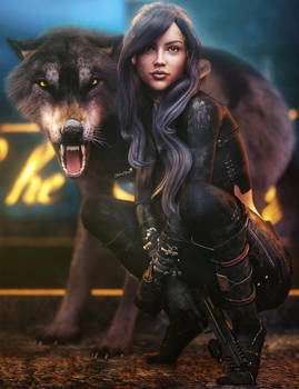 Assassin Girl, Sci-Fi Fantasy Woman Art, DS Iray