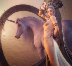 Unicorn Princess, Fantasy Woman Art, Daz Studio