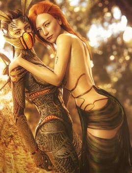 Fantasy Girls Pin-Up Art, Daz Studio Iray Image
