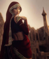 Princess of the East, Fantasy Woman Art, DS Iray by shibashake