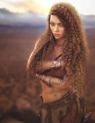 Barbarian Girl, Fantasy Woman Art, DS Iray