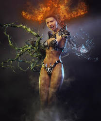 Queen of the Elements, Fantasy Woman Art, DS Iray by shibashake