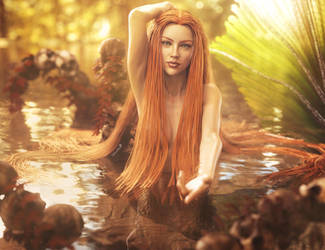 Come to Me, Fantasy Mermaid Woman Art, Daz Studio by shibashake