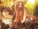 Come to Me, Fantasy Mermaid Woman Art, Daz Studio by shibashake