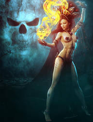 Dark Magic, Fantasy Woman Art, Daz Studio Iray by shibashake