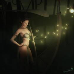 Night for Reflection, Fantasy Woman Art,Daz Studio by shibashake
