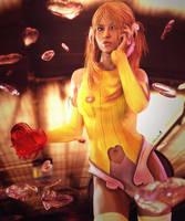 Happy Valentines Day, Cute Girl Pin-Up Art, Iray by shibashake
