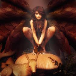 Leaf Fairy Girl, Fantasy Woman Art, Daz Studio