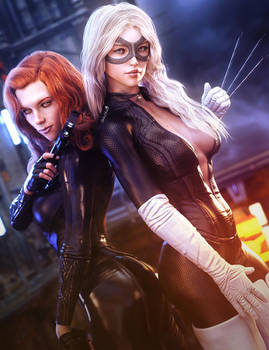 Bad-Ass Girls of Marvel, Fantasy Women Fan-Art, DS