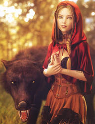 Little Red Riding Hood, Fantasy Woman Art, DS Iray by shibashake