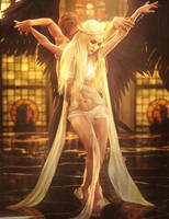 The Dance, Fantasy Man and Woman Pin-Up Art, Iray by shibashake