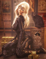 Black Cats, Fantasy Woman Marvel Fan-Art, DS Iray by shibashake